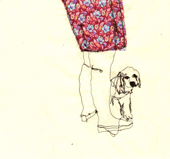 legs and dog