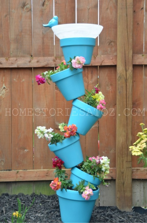 planter bird bath