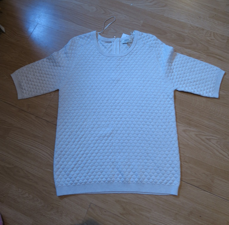 Waffle-Texture-Sweater-Cream-Sale