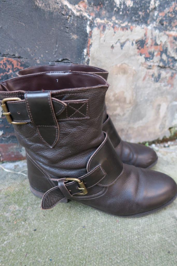 Dark Brown Biker Boots eBay