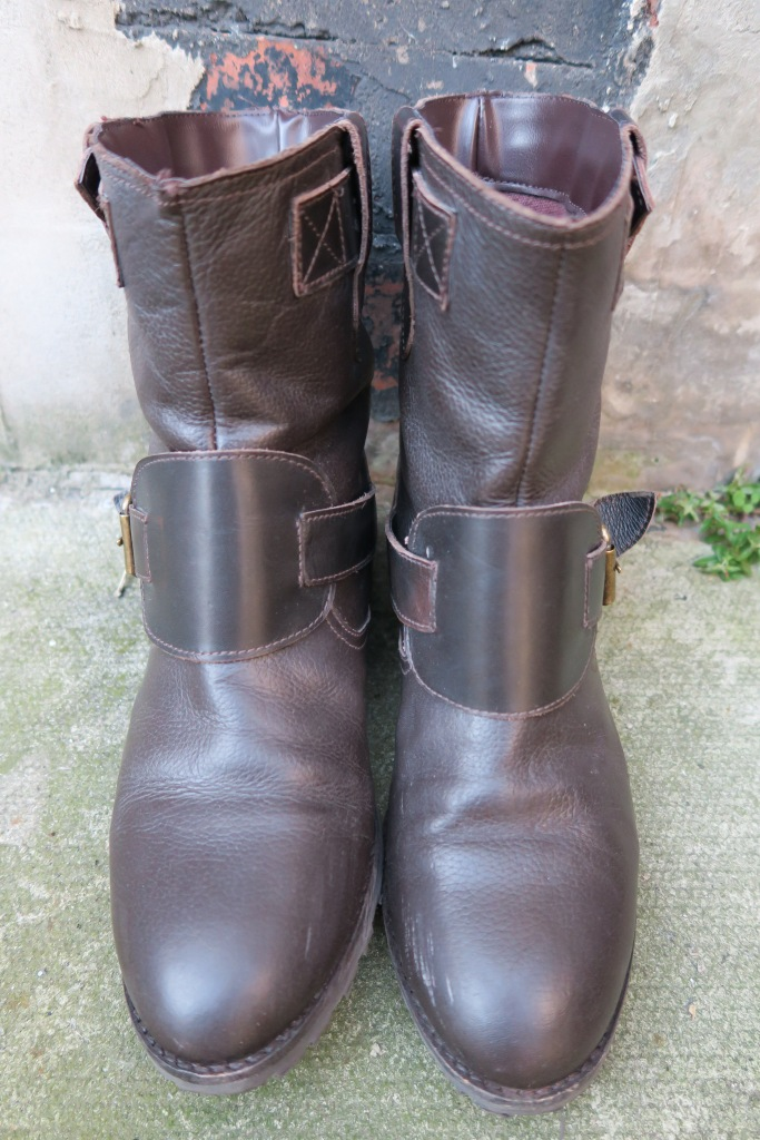 Dark Brown Biker Boots eBay