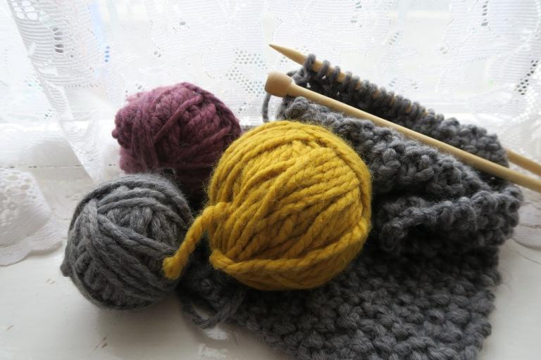 Knitting relaxing hobby