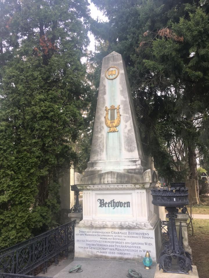 Beethovens grave, Zentralfriedhof, Vienna