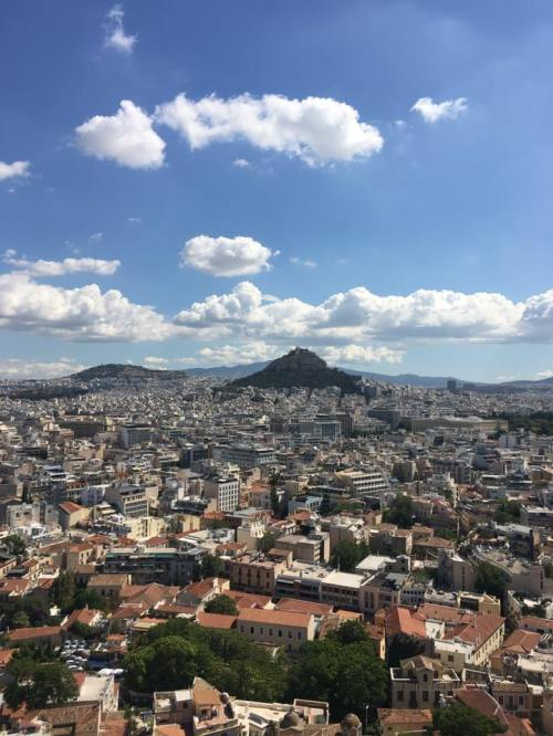 View from the Parthenon at the acropolis